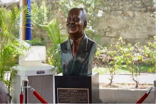 T BASWELL DONALDSON BUST UNVEILING